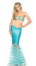 Sexy Mermaid Costume Cosplay Womens Adults Backless Disney Princess Fancy Dress