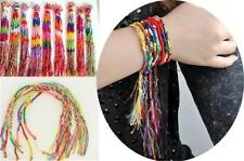 Lots Wholesale Featured Ethnic Style Friendship Handmade Braid Cords Bracelet