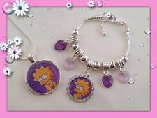 SUPER GORGEOUS LITTLE GIRLS LISA OR MAGGIE SIMPSON NECKLACE BRACELET OR SET