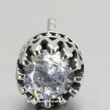 White CZ Stone 316L Stainless Steel Stud Earring T037A