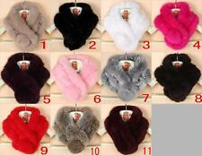 Real Rabbit fur Scarf Stole Cape Collar Muffler Winter Wrap Scarves Shawl Women
