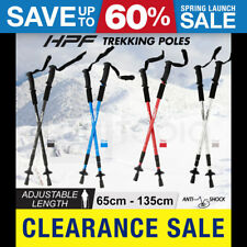 NEW HPF Trekking Hiking Poles Walking Sticks  Anti ShockAdjustable Camping Staff