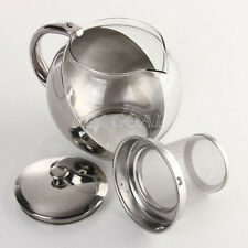 Stainless Glass Teapot with Loose Infuser Coffee Tea Leaf Herbal 500ML-900ML