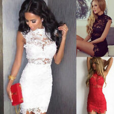 Women Bandage Bodycon Slim Lace Evening Sexy Party Cocktail Wedding Mini Dress