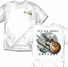 It's All About Guitars - White T-shirt - Adult Sizes