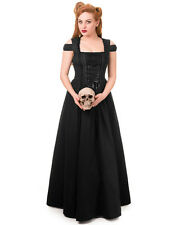 Banned Morgana Maxi Dress Long Black Gothic Steampunk VTG Victorian Wedding