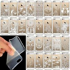 Soft Clear TPU Mandala Floral Sun Paisley Henna Case Cover for iPhone 5 5S 5C 6