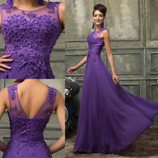 18 20 22+ Plus Size Long Chiffon Evening Gown Party Formal Bridesmaid Prom Dress