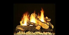 """18"""", 24"""", 30"""" Canyon Oak Vented Fireplace Gas Logs Lots of Bark Detail LP or NG"""