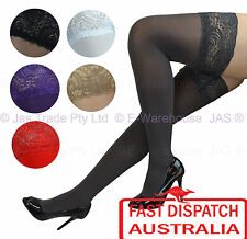Costume Sexy Silicone Band Stay up Floral lace Top Thigh High Highs Stockings