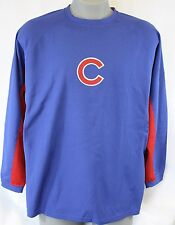 NEW Mens MAJESTIC Chicago Cubs Long Sleeve Warm Up Style Baseball Shirt
