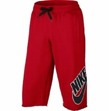 704684-657 New with tag Nike Men's Basketball 3/4 game fleece shorts RED