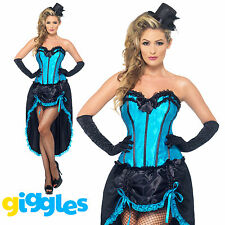 Burlesque Dancer Costume Moulin Rouge Can Can Womens Ladies Fancy Dress Outfit