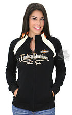 Harley-Davidson Womens Back Up Fleece Mock Neck Full-Zip Black Sweatshirt Jacket