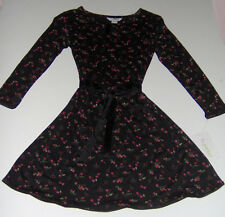 NWT KC Parker dressy black red berries girls dress sz 6 NEW Holiday Party