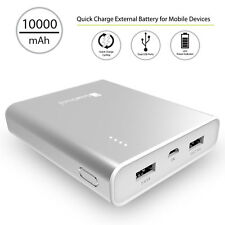 Silver 3.1A USB Power Bank External Battery Charger for Tablets/Phone 10000mAh