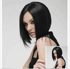 Hot~Black Sexy Straight Women Girls Long Fashion Full Straight Hair Wigs+Wig Cap