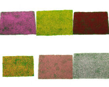 1X Green Grass Mat w/ Flower Railway Model Train Layout HO Scale 6 Color Choice