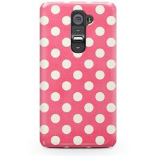 Polka Dots on Hot Pink Phone Case for LG fits LG G2 G3 Nexus 5 6