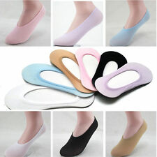 2 Pair Women Solid Invisible Liner Low Cut Boat Ankle Foot Short Slipper Sock