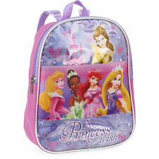 "Disney Princess 10"" Lenticular Backpack Belle, Ariel, Rapunzel Ages 2-4"