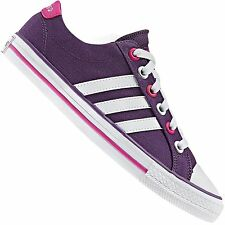 ADIDAS NEO LABEL CANVAS VL 3 STRIPES SNEAKER TRAINERS LIFESTYLE SHOES