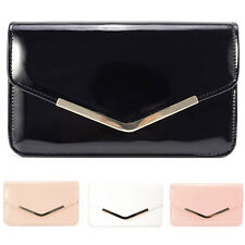 STYLISH PARTY BAG WEDDING PROM EVENING CLUTCH HAND BAG PURSE WITH GOLD CHAIN