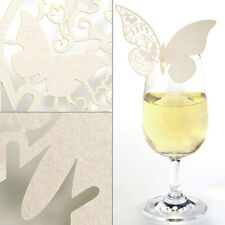 10pcs Laser Cut Butterfly Wedding Party Reception Seating Table Cup Place Card