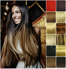 "15""-26"" Full Head Clip In Full Head 100% Real Remy Human Hair Extensions"