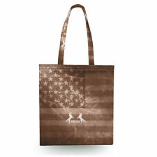 Vintage Rodeo Rustic Canvas Tote Bag - 16x16 inch Book Gym Bag Optional Zip