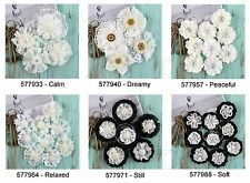 Prima * SARASOTA * LACE FABRIC & MULBERRY PAPER FLOWERS *