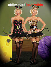 Sexy 6pc FULLY REVERSIBLE Cat Mouse 2-in-1 dress belt ears costume set Dreamgirl