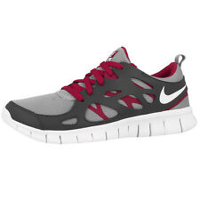 NIKE FREE RUN 2 GS RUNNING SHOES TRAINERS 443742-032 GREY WHITE RED 3 4.0 5.0