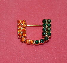 University of Miami Hurricanes Canes College Football Player UM Rhinestone Pin