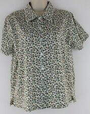 Shenanigans New Womens Floral Print Short Sleeve Knit Shirt Top Sz PS Ret $30