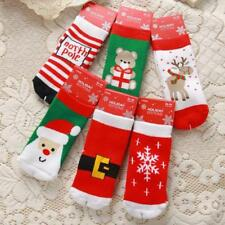 Cute Baby Kids Warm Christmas Socks Boys Girls Xmas Holiday Cotton Hosiery S, M