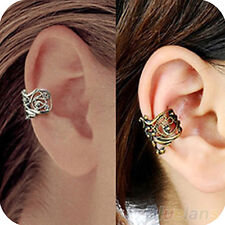 Women Ladies Stunning Punk Hollow out Engraving Ladie Ear Cuff Clip Earrings
