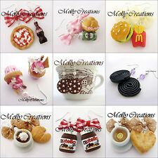 Orecchini Fimo Handmade Earrings polymer clay Nutella cake the cookies sandwich