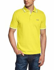 Hugo Boss Men's Modern Polo Cotton Shirt Paddy Regular Fit Yellow Size 2XL