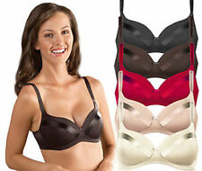 Womens Naturana Satin Soft Cup No Wires Full Coverage Bra 5741 Select Size