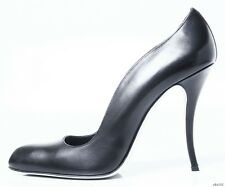"""new $965 MANOLO BLAHNIK """"Nepala"""" black leather curved pumps shoes 41 10 9.5 9"""