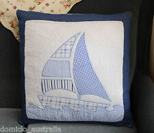 Patchwork Cartoon Embroidery Applique Quilted Cotton Cushion Cover 50x50CM