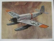 Aviation Art C P Air Canada Airplane Junkers JU 52 cao Vintage Print by Banks A+
