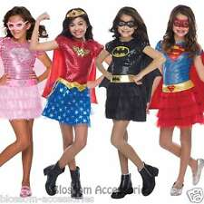 CK509 Deluxe Sequin Superhero Hero Toddler Girl Fancy Dress Up Book Week Costume
