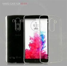 Crystal Clear Hard Case Cover For LG G3 + Clear/Tempered Glass Screen Protector
