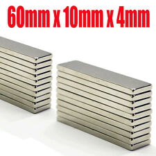 60mm x 10mm x 5mm Very Strong Rare Earth Neodymium Block Magnets Craft Reborn
