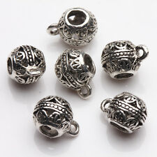 10/20Pcs Tibet Silver Round Shape Bead Caps Jewelry Findings Handmade 11*8mm