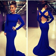 Women's Bridesmaid Ball Prom Gown Formal Evening Party Cocktail Long Dress F015