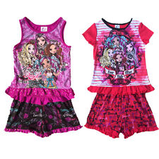 2PCS Girl Kids Monster High 6-16Y Sleepwear Top Shirt+Pants Pajamas Outfits Sets