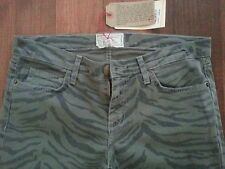 NWT Current/ Elliott Olive Green womens ankle skinny  jeans Printed 27 28 29 30